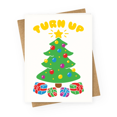 Turn Up Greeting Card