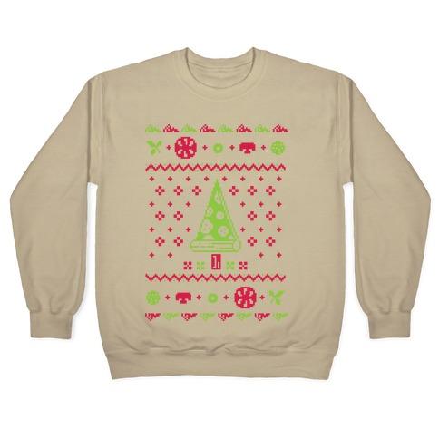 3x Ugly Christmas Sweater.Ugly Pizza Christmas Sweater Crewneck Sweatshirt Lookhuman