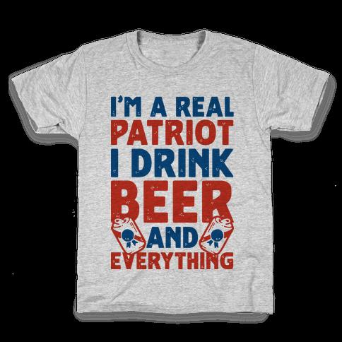 Real Patriot  Kids T-Shirt