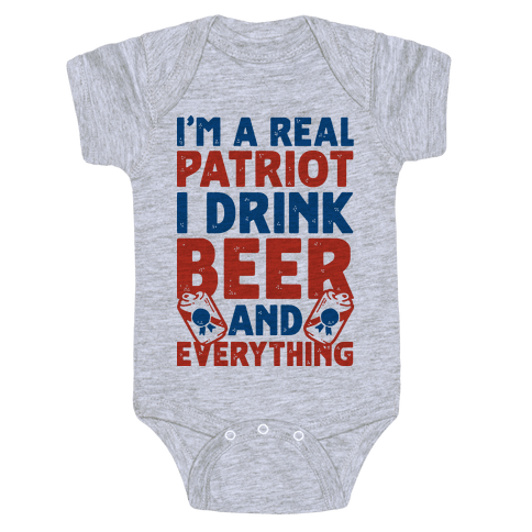 Real Patriot Baby One-Piece