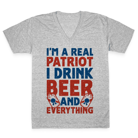 Real Patriot  V-Neck Tee Shirt