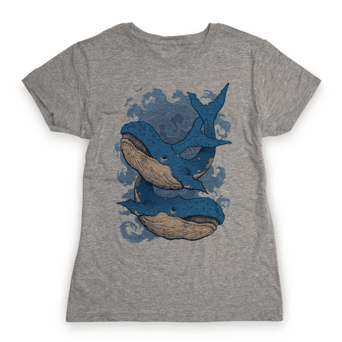 Humpback Whales Womens T-Shirt