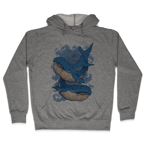 Humpback Whales Hooded Sweatshirt