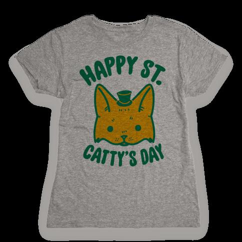 Happy St. Catty's Day Womens T-Shirt