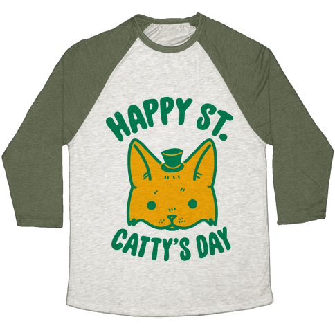 Happy St. Catty's Day Baseball Tee