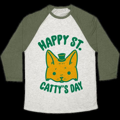 Happy St. Catty's Day Baseball Tee