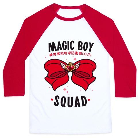 Magic Boy Squad (Red) Baseball Tee