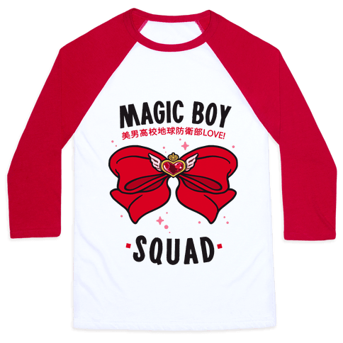 Magic Boy Squad (Red) Baseball Tee