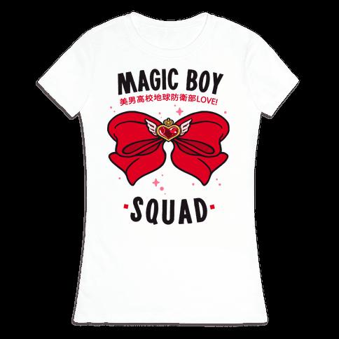 Magic Boy Squad (Red) Womens T-Shirt