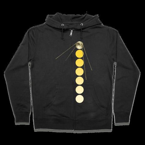 Sputnik Gold (Alternate) Zip Hoodie