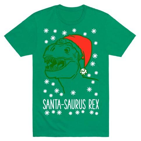Santa-Saurus Rex Mens T-Shirt
