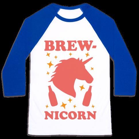 Brew-nicorn Baseball Tee