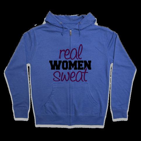 Real Women Sweat Zip Hoodie
