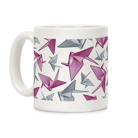 Origami Paper Crane Coffee Mug