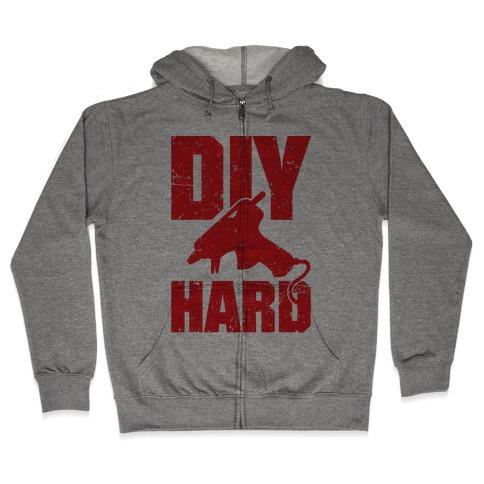 DIY Hard Zip Hoodie
