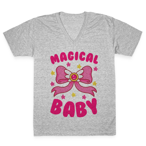 Magical Baby (Moon) V-Neck Tee Shirt