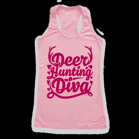 Deer Hunting Diva Racerback Tank Top