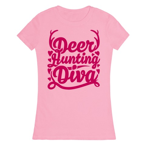 Deer Hunting Diva Womens T-Shirt