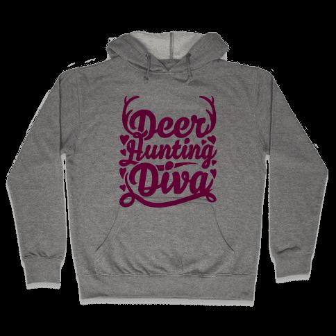 Deer Hunting Diva Hooded Sweatshirt
