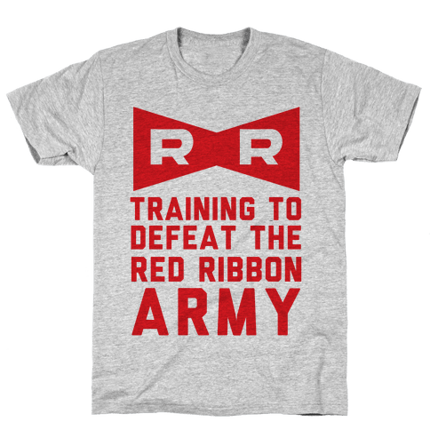 Training To Defeat The Red Ribbon Army Mens T-Shirt