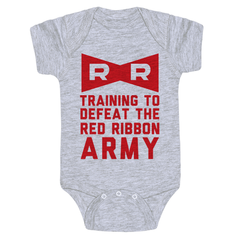 Training To Defeat The Red Ribbon Army Baby Onesy