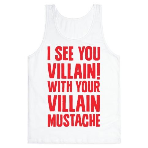 Villain Mustache Tank Top