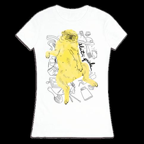 Slut Pride - Pug Womens T-Shirt