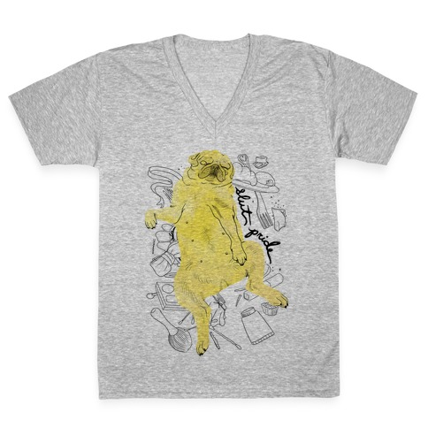 Slut Pride - Pug V-Neck Tee Shirt