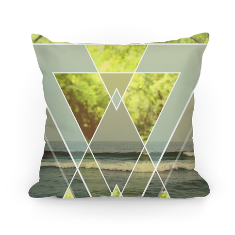 Trendy Geometric Outdoor Triangles Pillow