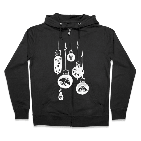 Moth And Wallflower Indie Lights Zip Hoodie