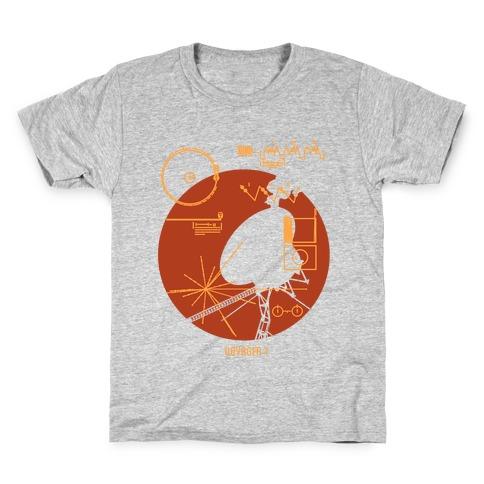 Retro Voyager 1 Golden Record Kids T-Shirt