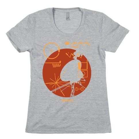 Retro Voyager 1 Golden Record Womens T-Shirt