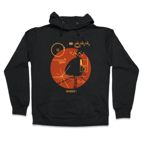 Retro Voyager 1 Golden Record Hooded Sweatshirt