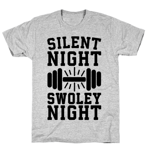 Silent Night Swoley Night Mens T-Shirt