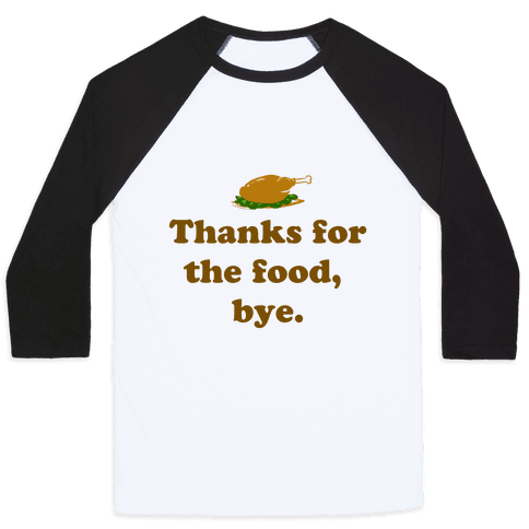Thanksgiving Thanks Baseball Tee