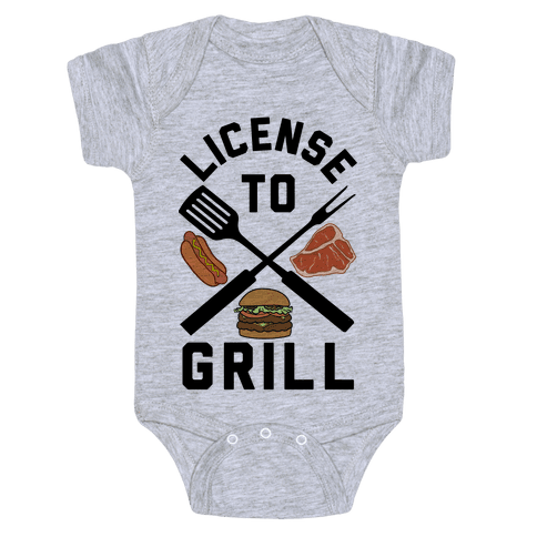 License To Grill Baby Onesy