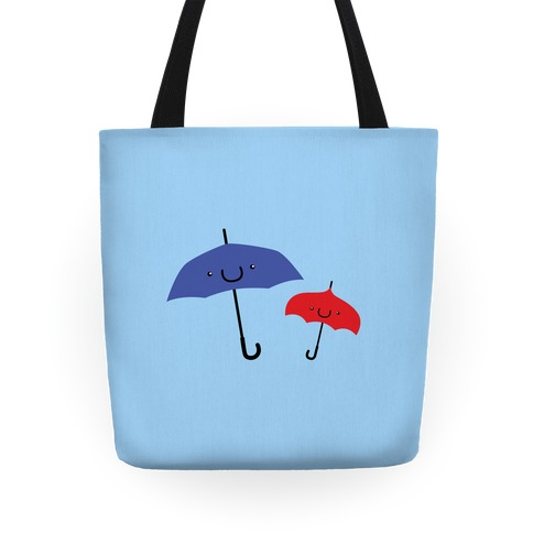 Cute Umbrella Couple Tote