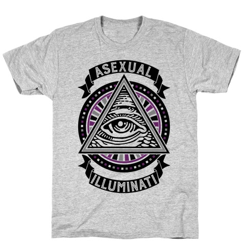 Asexual Illuminati Mens T-Shirt