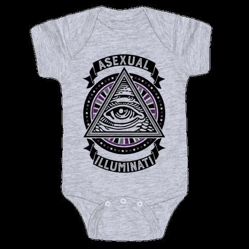 Asexual Illuminati Baby Onesy