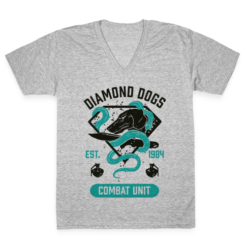 Diamond Dogs Combat Unit V-Neck Tee Shirt