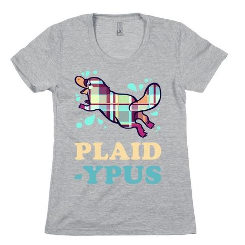 Plaidypus Womens T-Shirt