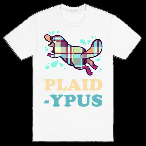 Plaidypus Mens T-Shirt