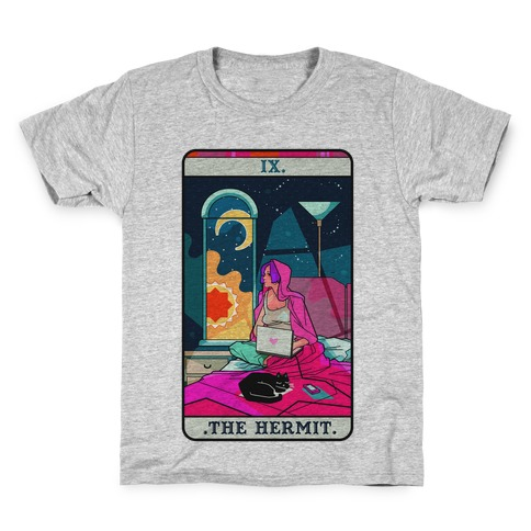Hermit Tarot Card Kids T-Shirt