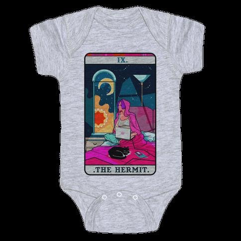 Hermit Tarot Card Baby Onesy