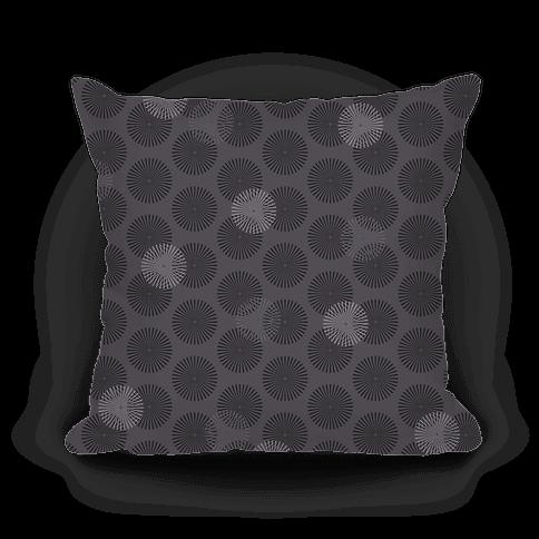 Gray Radial Mandalas Pattern