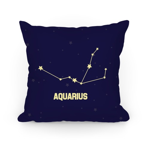 Aquarius Horoscope Sign Pillow