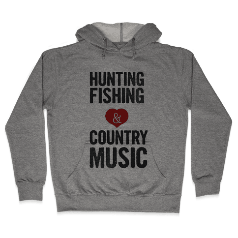 Hunting Fishing & Country Music (Womens) Hooded Sweatshirt