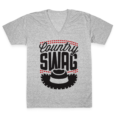 Country Swag V-Neck Tee Shirt