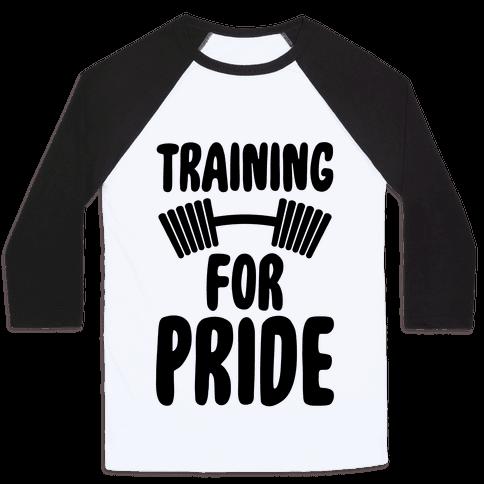 Training For Pride Baseball Tee