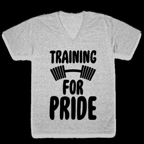 Training For Pride V-Neck Tee Shirt